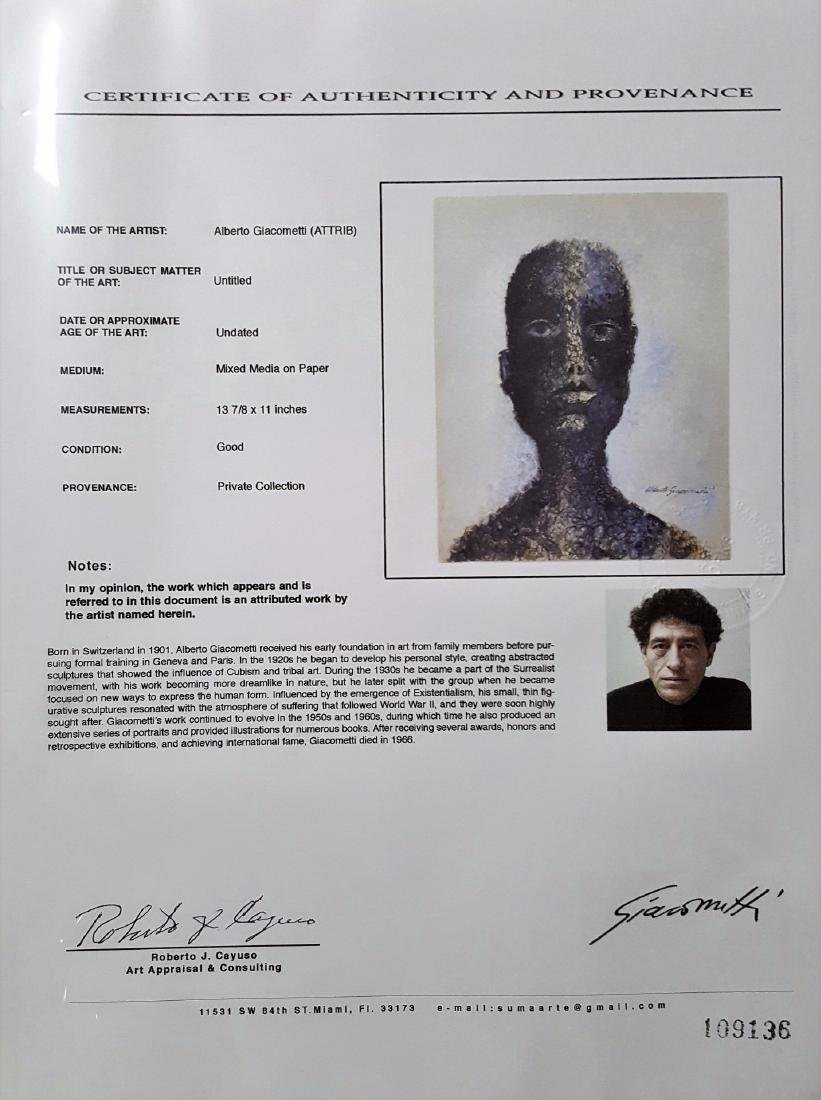 Alberto GIACOMETTI mixed media on paper signed - 4