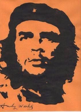 (att.)andy Warhol Che Guevara Ink On Paper Signed