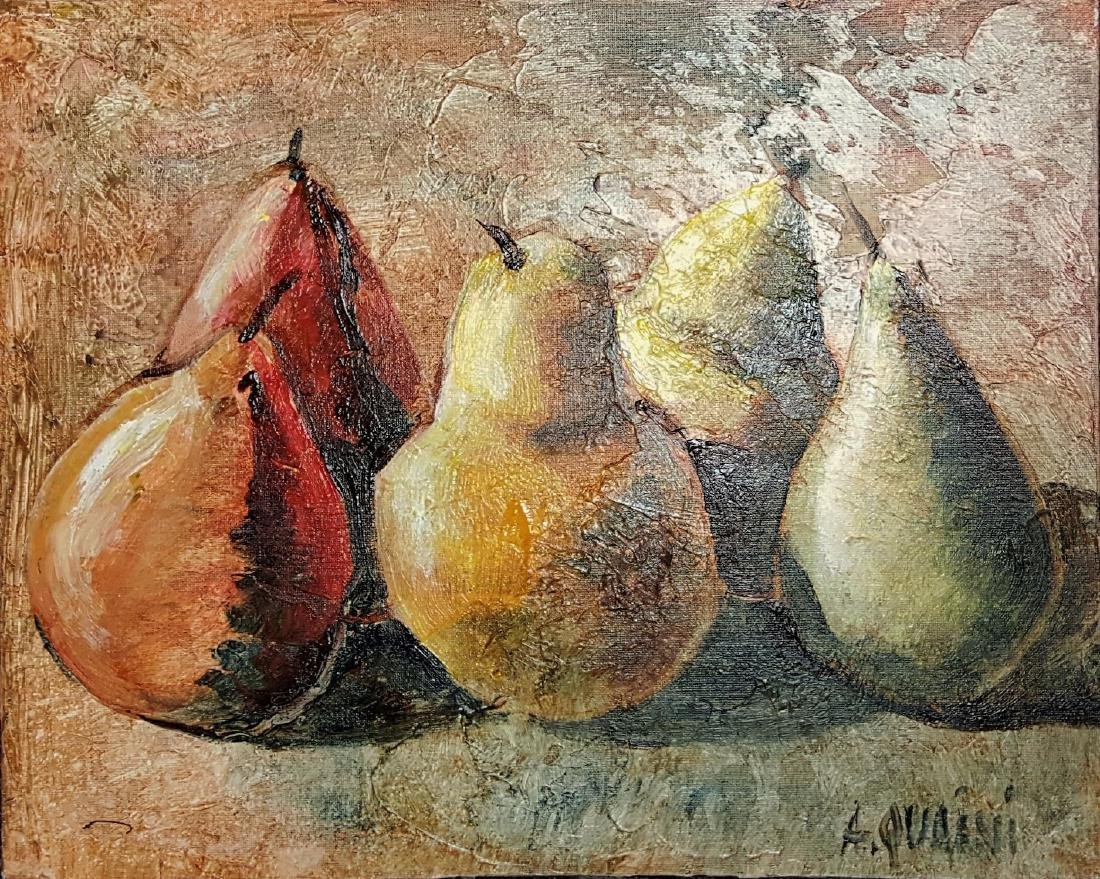 Alicia Quaini oil on canvas painting. COA