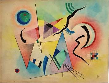 Wassily KANDINSKY mixed media on paper signed painting