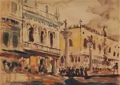 John Singer Sargent watercolor on paper signed
