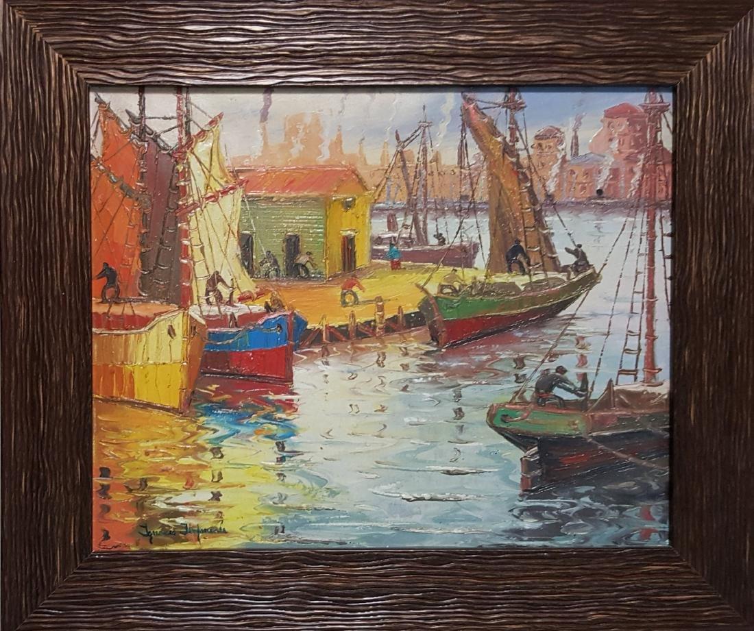 """Ignacio J. Imperiale oil on canvas painting """"Efectos de"""