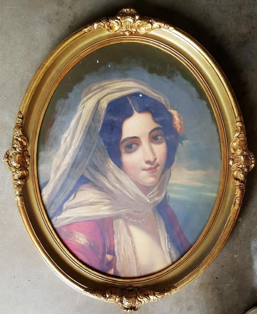 Antique Portrait on canvas, Unknown artist