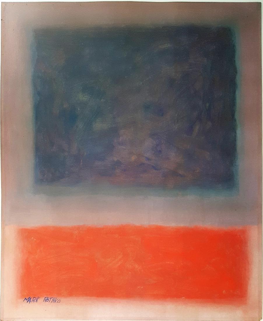 Mark Rothko gouache on paper signed painting  (Att.)