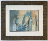 Roberto MATTA gouache on paper signed painting