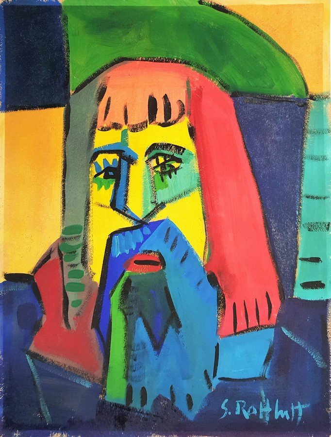 Karl SCHMIDT-ROTTLUFF  gouache on paper signed painting