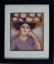 Kees Van Dongen Gouache on Paper signed painting