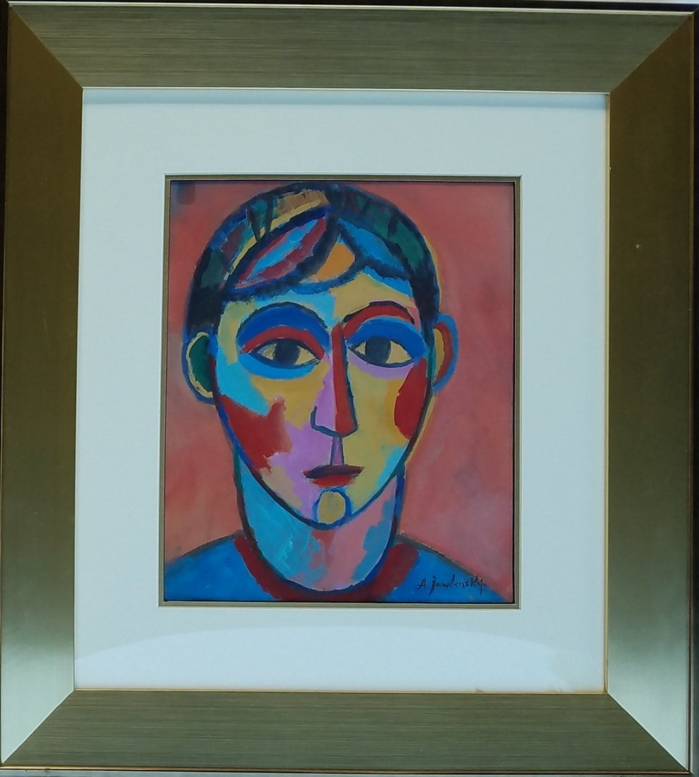 Alexej von Jawlensky Gouache on Paper signed painting