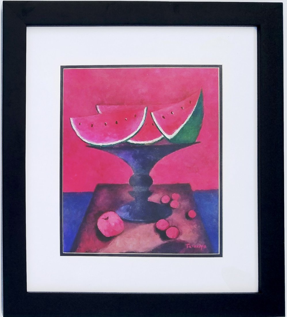 Rufino Tamayo mixed media on papel signed painting