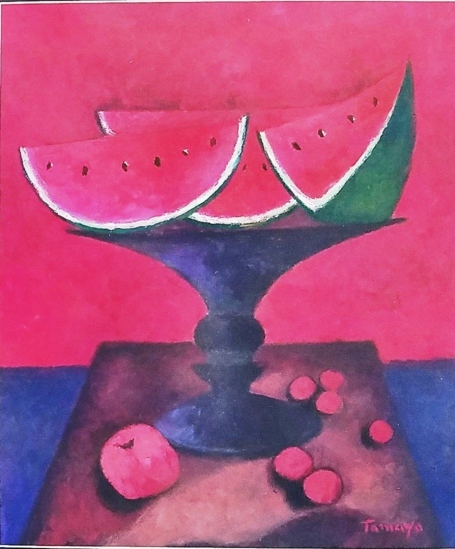 Rufino Tamayo mixed media on papel signed painting - 2