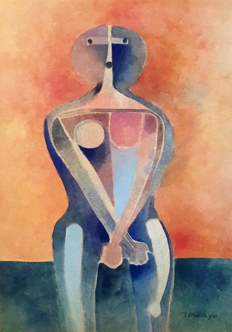 Rufino TAMAYO gouache on paper signed painting - 2