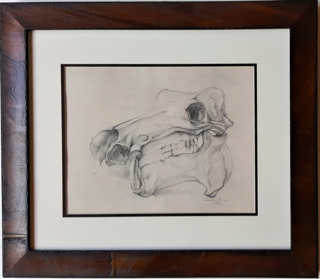 Claudio Brabo graphite on paper  signed painting