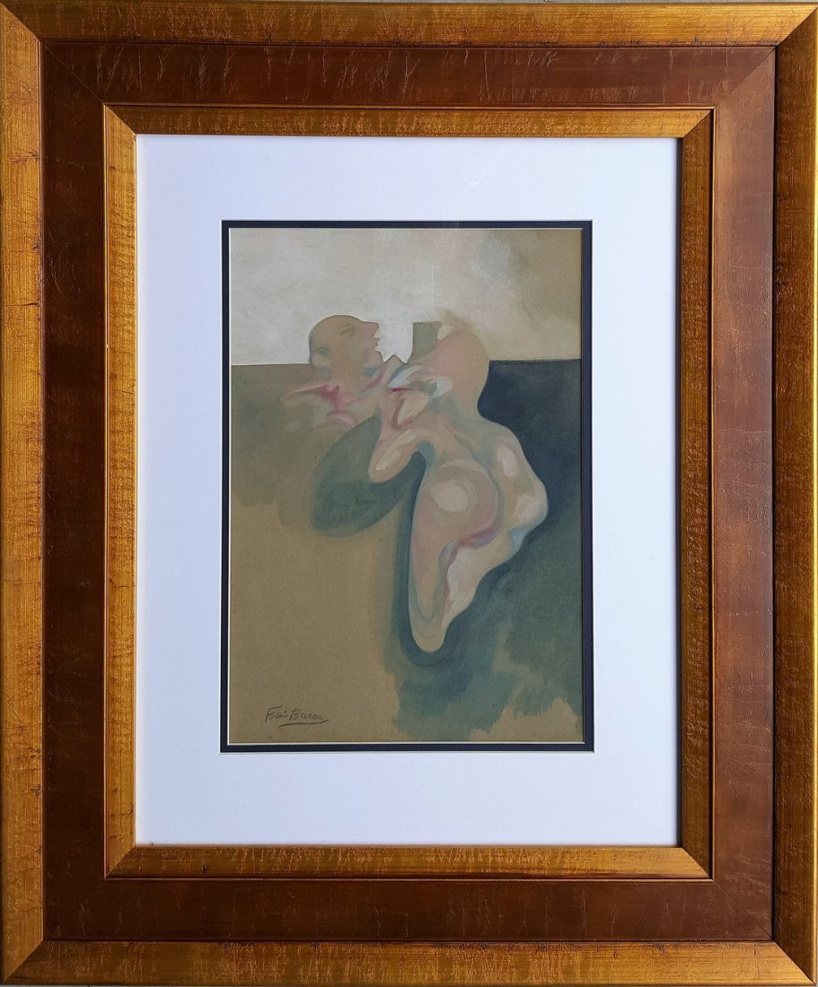 Francis BACON gouache on paper signed painting