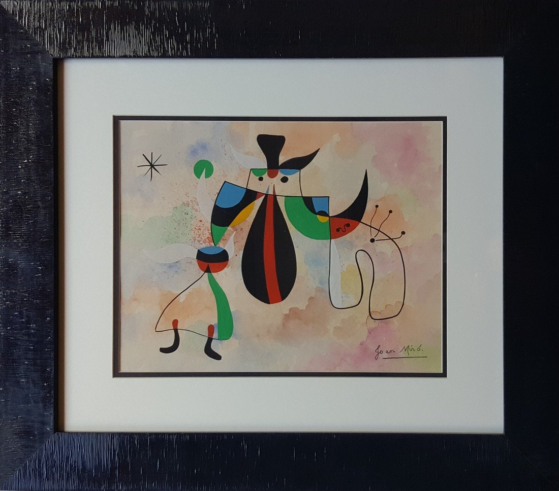 Joan MIRO gouache on paper signed painting - 3