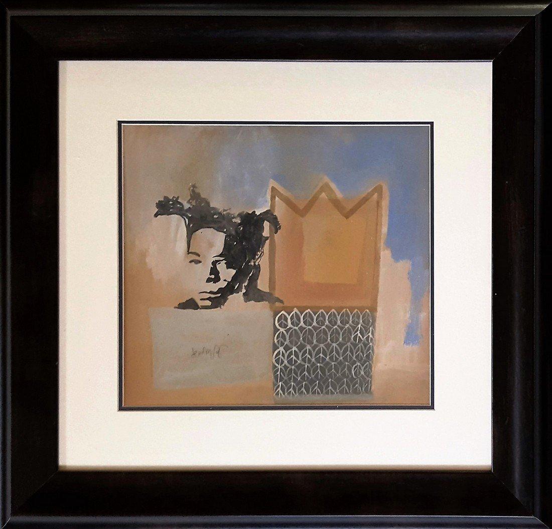 Jean-Michel Basquiat gouache on paper