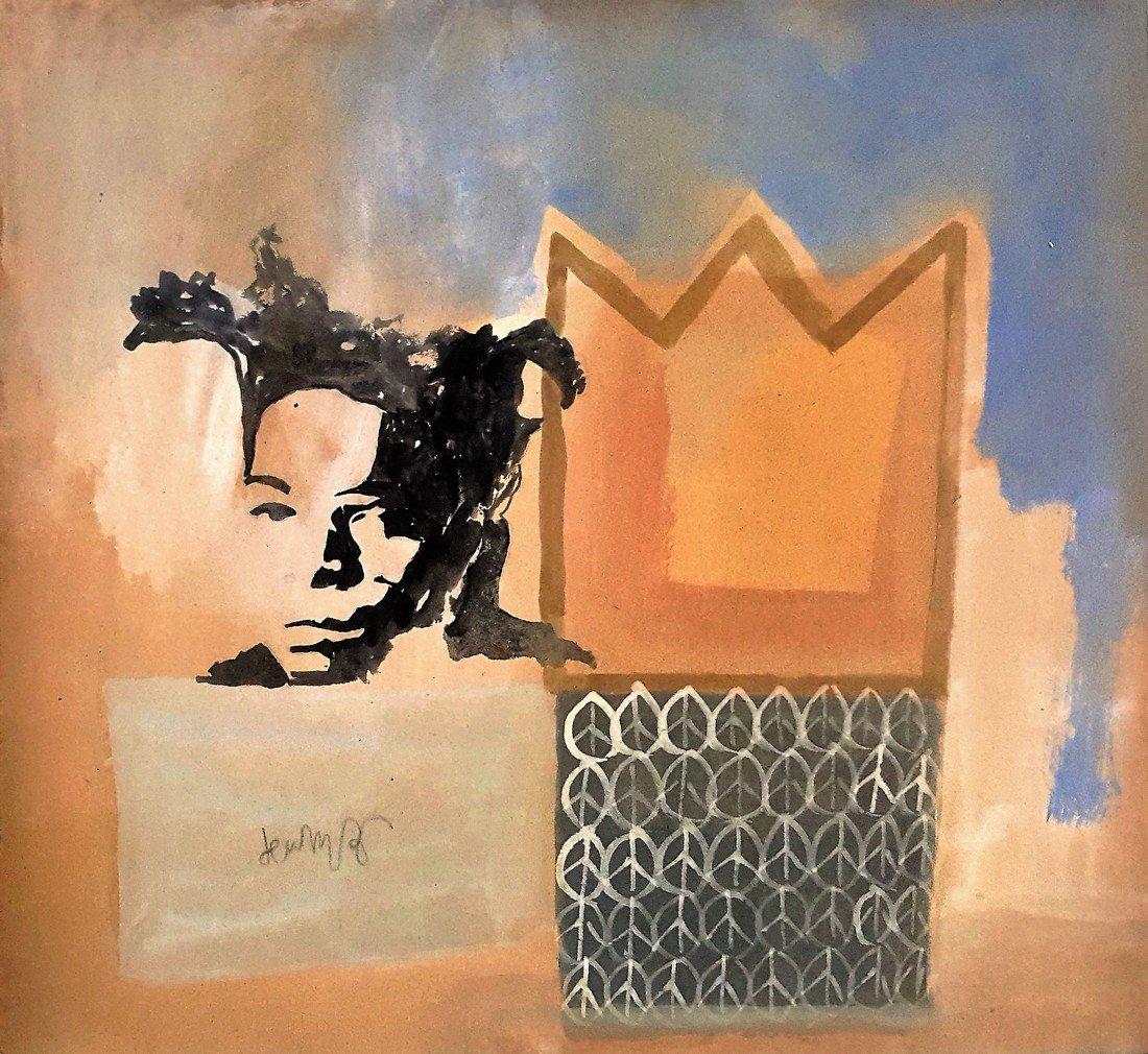 Jean-Michel Basquiat gouache on paper - 2