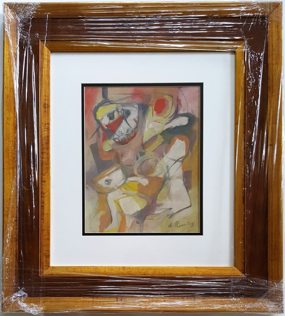 Willem DE KOONING gouache on paper signed painting - 3