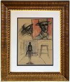 Alberto GIACOMETTI mixed media on paper