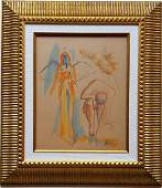 Salvador DALI watercolor on paper signed painting
