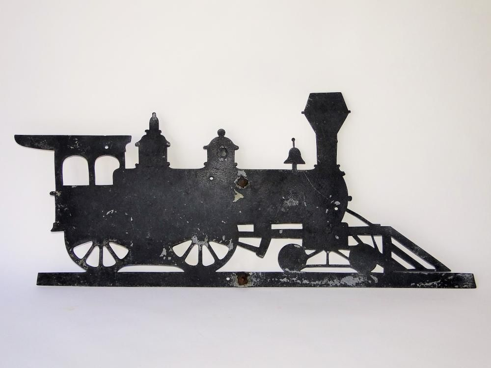 C. 1900 LOCOMOTIVE WEATHERVANE
