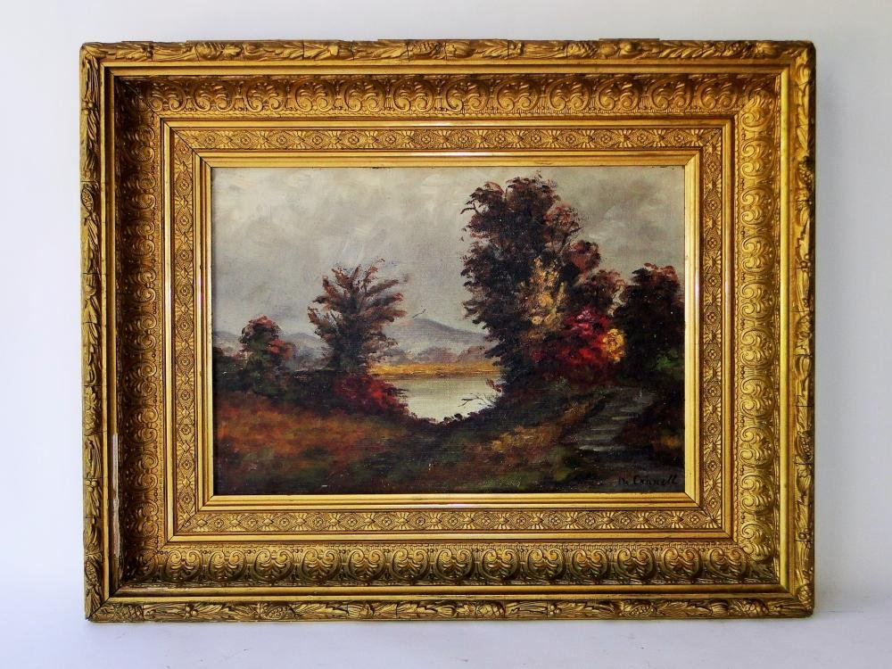 19TH C OIL PAINTING OF NEW HAMPSHIRE