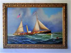 SHIP PAINTING BY JEROME HOWES