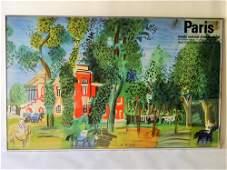 LARGE PARIS POSTER BT RAOUL DUFY