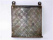 18TH C STAMP DECORATED TIN UTENSIL HOLDER