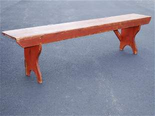 EARLY 19TH C FIRESIDE BENCH