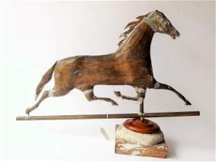 19TH C RUNNING HORSE WEATHERVANE