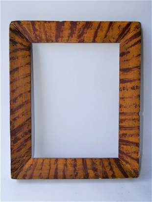 EARLY PRIMITIVE DECORATED FRAME
