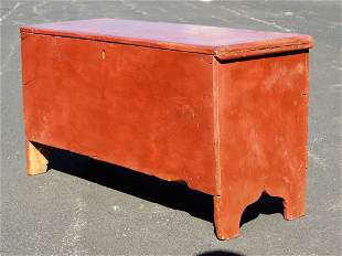 SMALL PAINTED BLANKET BOX