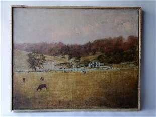 AMERICAN SCHOOL FARM SCENE SIGNED