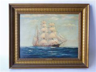 HOMEWARD BOUND SHIP PAINTING G H WHEATLEY