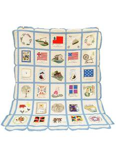 IMPORTANT QUILT MADE FOR ODELL ROCHAMBEAU RESTORATION