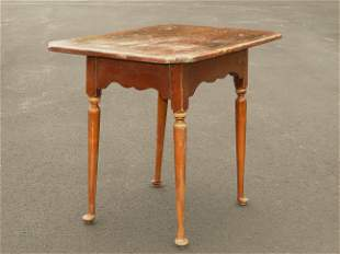 EARLY 18TH TEA TABLE OVAL TOP