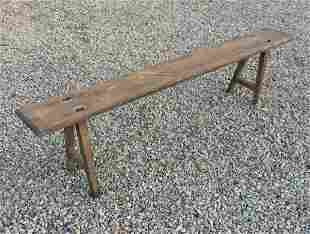 EARLY 18TH C FIRESIDE BENCH