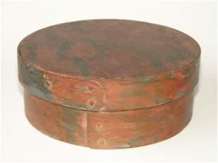 19TH C PAINT DECORATED PANTRY BOX
