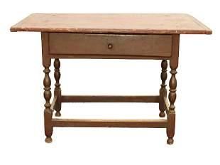 CIRCA 1720 AMERICAN TAVERN TABLE
