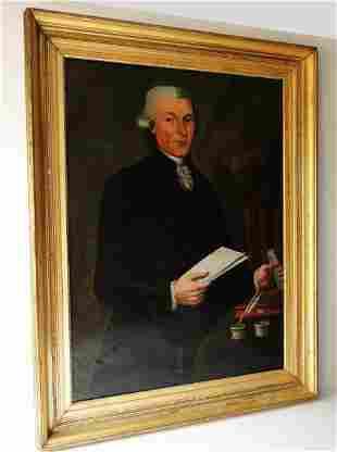 RARE 18TH C PORTRAIT OF A LAWYER