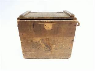 ADVERTISING WOOD BOX FOR JACK DANIELS