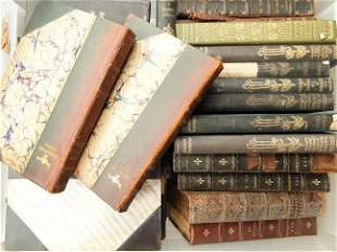 GROUPING OF LEATHER BOUND BOOKS