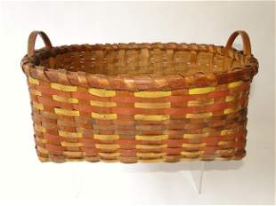 19TH C DECORATED BASKET
