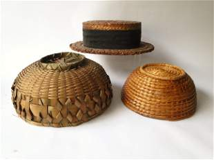 TWO BASKETS, MENS STRAW HAT