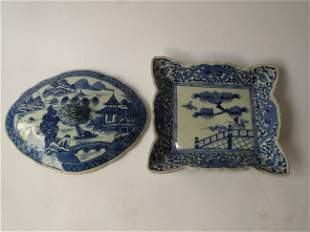 TWO PIECES OF CANTON CHINA