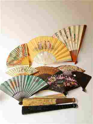 LARGE GROUPING OF ANTIQUE FANS