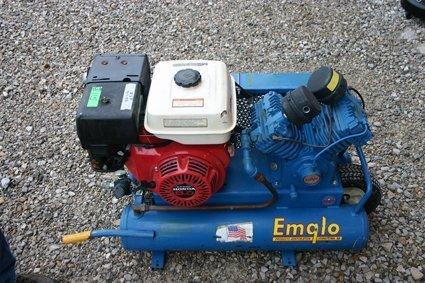 3: Emglo Dual Tank Air Compressor  GU Honda 8 hp - NR