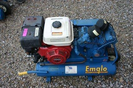 4: Emglo Dual Tank Air Compressor GU Honda 8 hp - NR