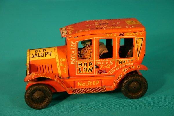 63: Line Mar Old Jalopy tin friction toy