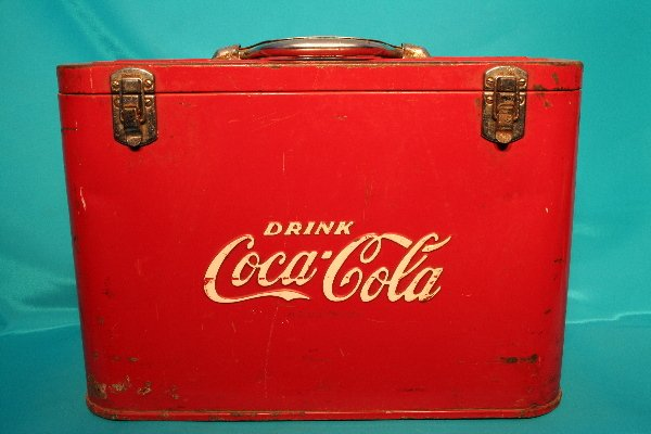 191: Coca-Cola red embossed airline cooler